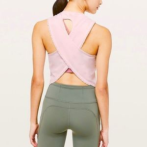 New LULULEMON Fast as Light Tank SE Frilled pink 8